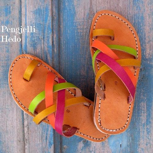 Sandales nu pieds en cuir pour fillette taille 28