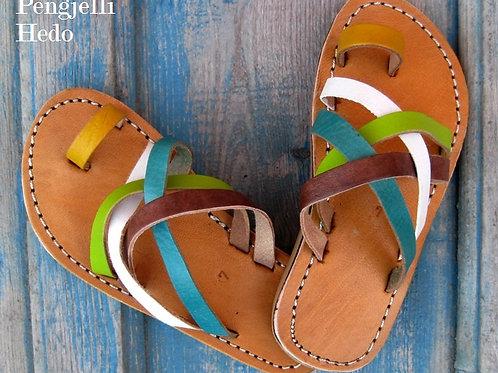 Sandales nu pieds en cuir pour fillette taille 27