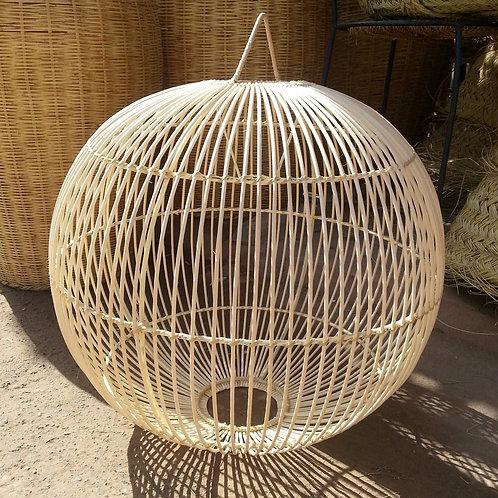 Suspension en rotin forme boule 3 diamètres