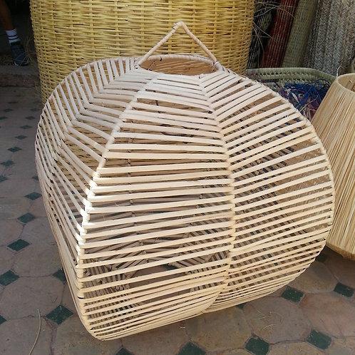Suspension en rotin forme octogonale 3 diamètres