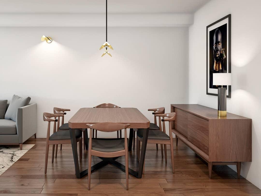 woody dinning room