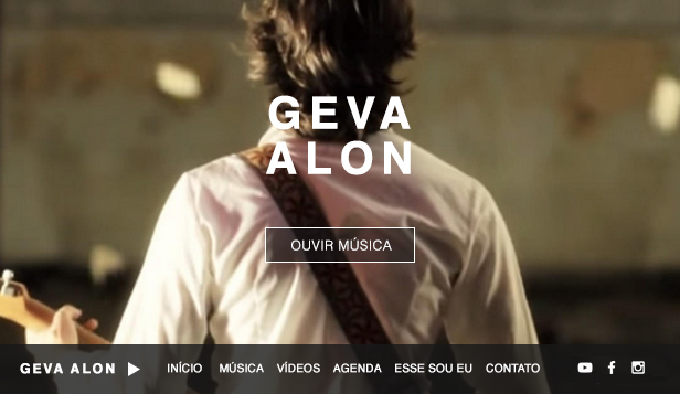 Música website templates – Cantor e Compositor Folk