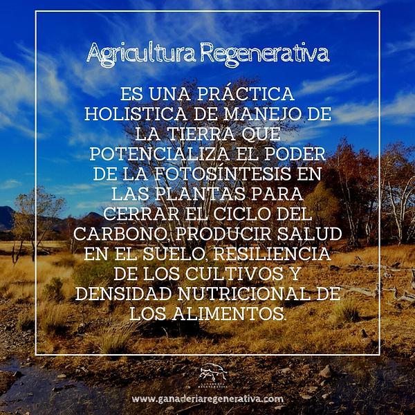 definición de agricultura regenerativa