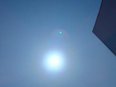 4月19日(日)穀雨の日。午後の太陽。