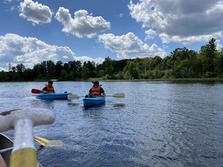 Kayaking together during ICCM Retreat