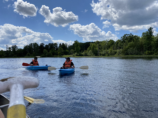 Kayaking together during ICCM Retreat