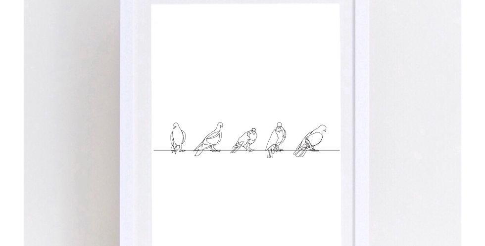 BIRDS LINE ART
