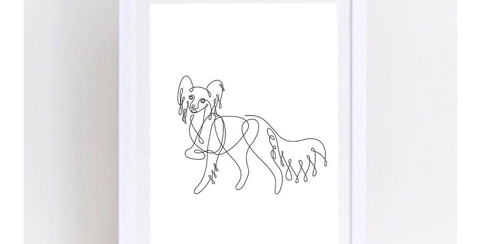 DOG LINE ART