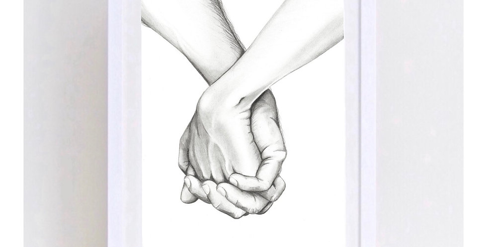 HOLDING HANDS PRINT