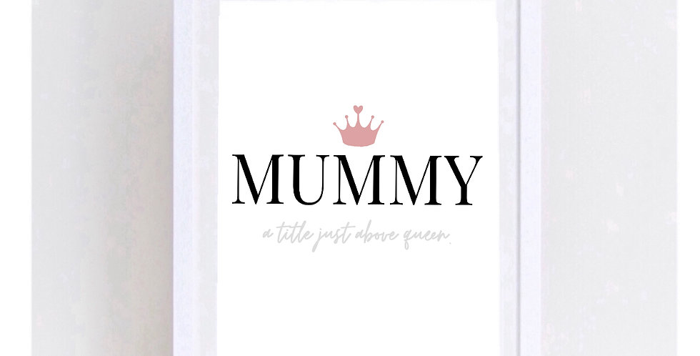 MUMMY - A TITLE JUST ABOVE QUEEN