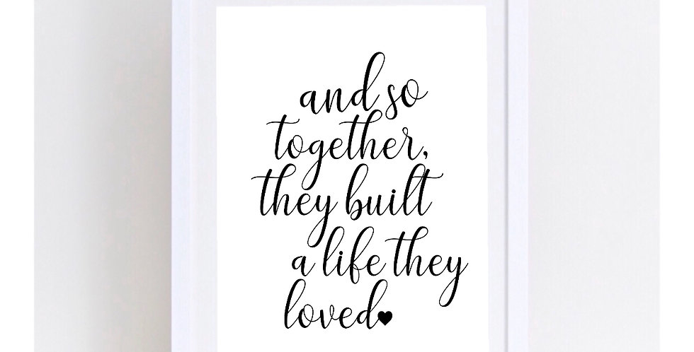 & SO TOGETHER THEY BUILT...