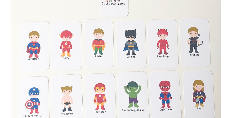 *LIMITED EDITION* SUPERHERO FLASHCARDS (PRE-ORDER)