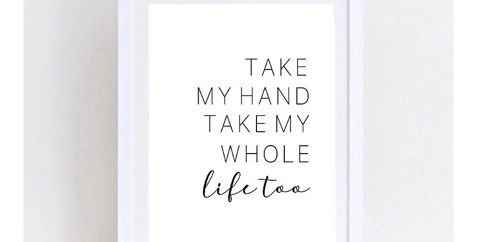 TAKE MY HAND SET