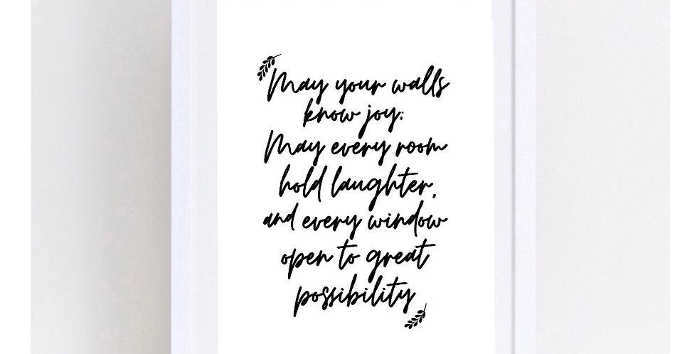 MAY YOUR WALLS