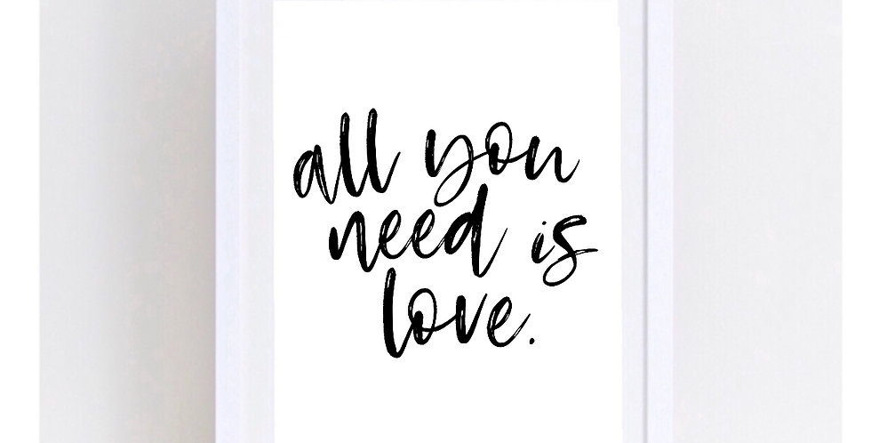 ALL YOU NEED IS LOVE/LOVE IS ALL YOU NEED