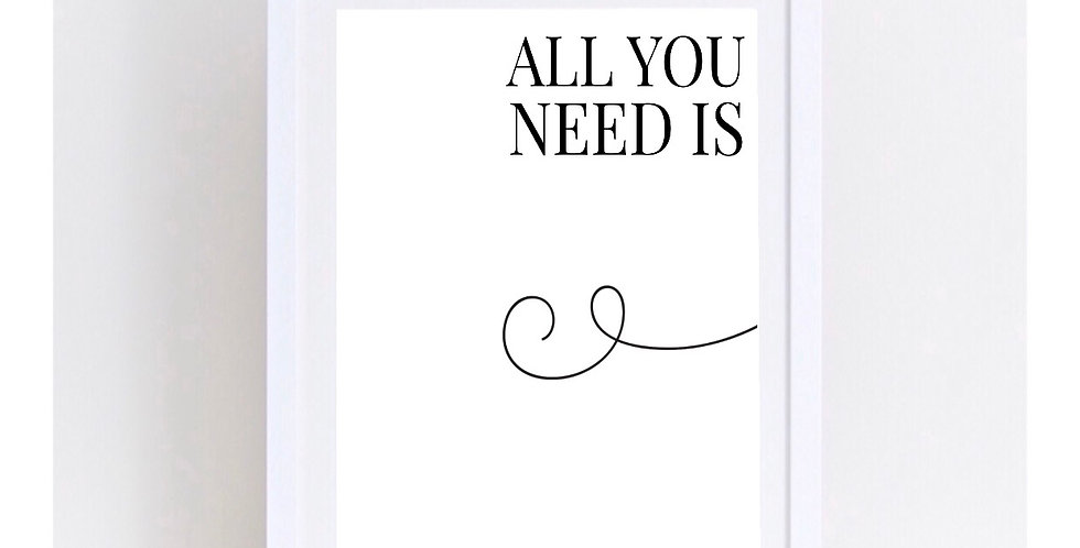 ALL YOU NEED IS LOVE - SET 2
