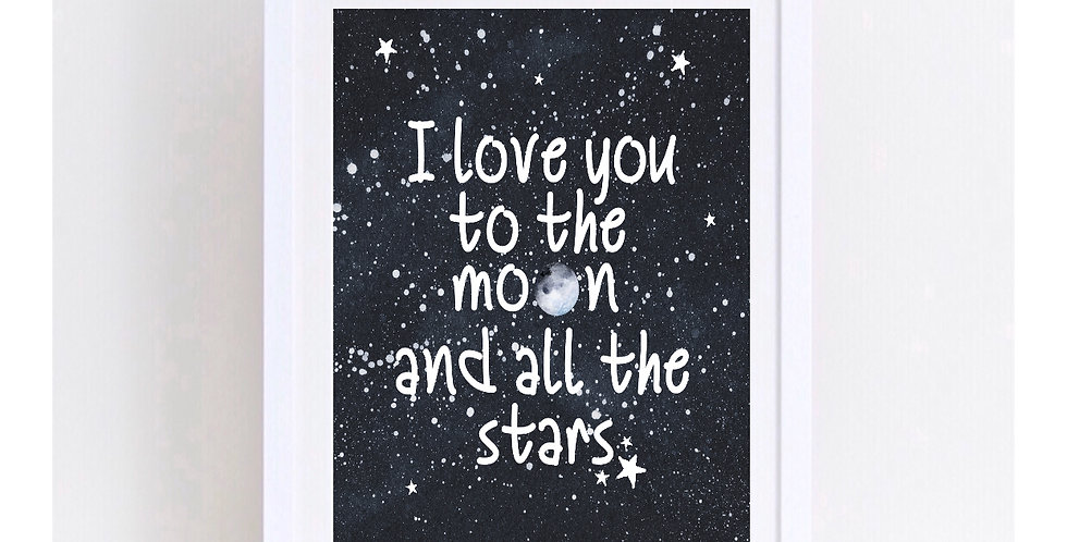 I LOVE YOU TO THE MOON DESIGN 2