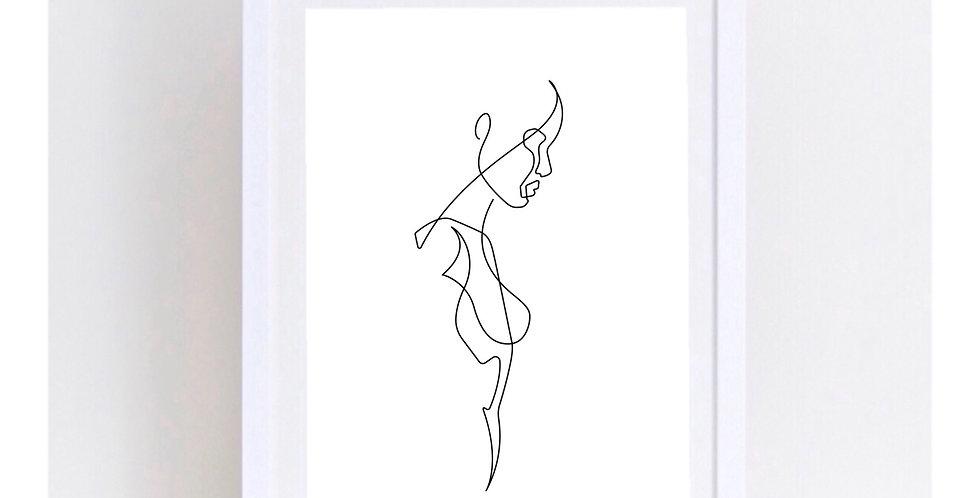 SILENT WOMAN LINE ART