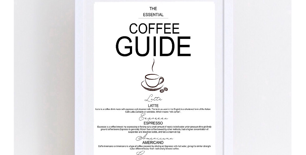 THE COFFEE GUIDE