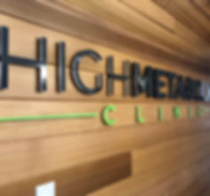 High Metabolic Clinic - reception sign.j
