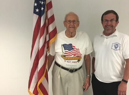 Honoring Local WWII Veteran, Mr. Glenn Hooks