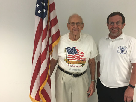Honoring Local WWII Veteran, Mr. Glenn Hooks