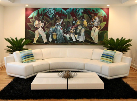 Brushdecor commissioned by Horace Silver family to create custom mural canvas.