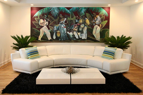 """La Conga"" canvas mural"