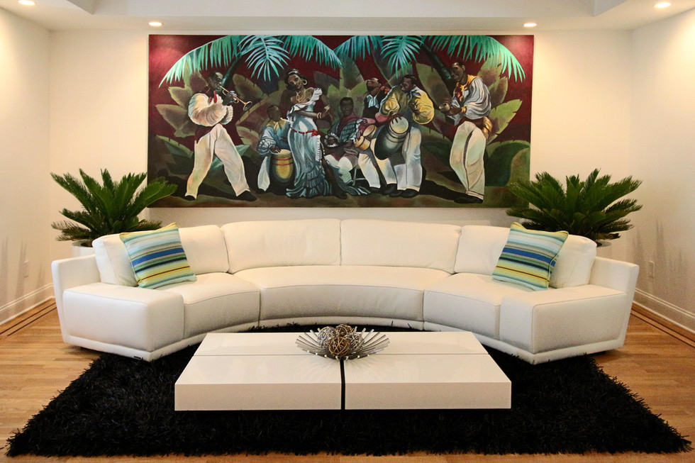 """""""La Conga"""" canvas mural"""
