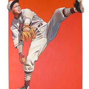 """Golden Age"" Vintage baseball murals on Canvas by Brushdecor"