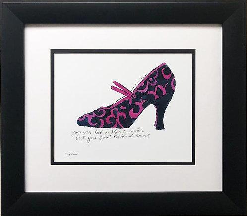 """Andy Warhol """"A La Recherche du Shoe"""" CUSTOM FRAMED Pop Art Lithograph"""