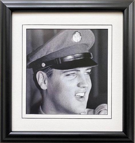 """Elvis Presley """"Arrives at Brooklyn Port"""" Framed Litho Art"""