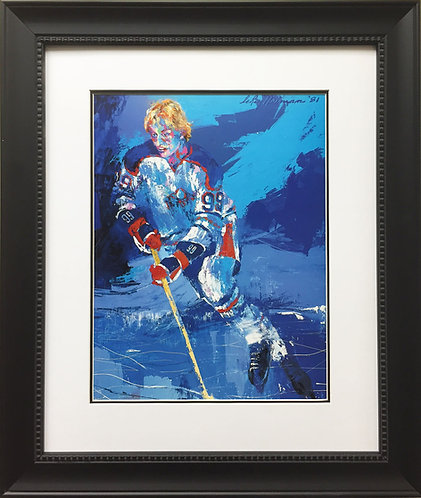 "LeRoy Neiman ""Wayne Gretzky"" New Custom FRAMED ART PRINT Hockey EDMONTON OILERS"
