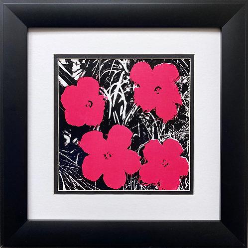"Andy Warhol ""Flowers"" 1964 (hot pink) CUSTOM FRAMED Pop Art Litho"