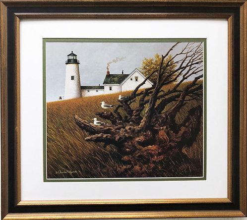 "Charles Wysocki ""Gnarled Viewpoint"" New CUSTOM FRAMED Art"