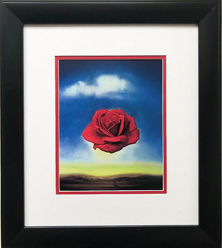 "Salvador Dali ""The Meditative Rose"" CUSTOM FRAMED ART"