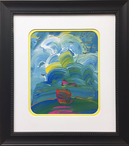 "Peter Max ""Sailboat"" (1989)"