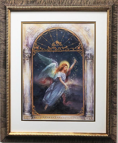 """Lena Liu """"Angel of Wishes"""" Hand Signed Limited Edition Framed Art"""