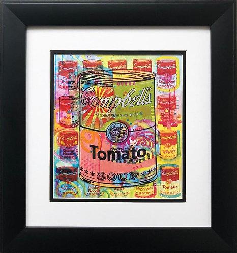 """Dean Russo """"Tomato on Mushrooms"""" CUSTOM FRAMED Street Pop Art"""
