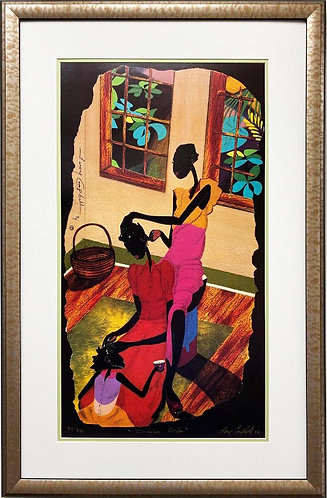 """Leroy Campbell """"Divine Order"""" Signed & # African American Art"""