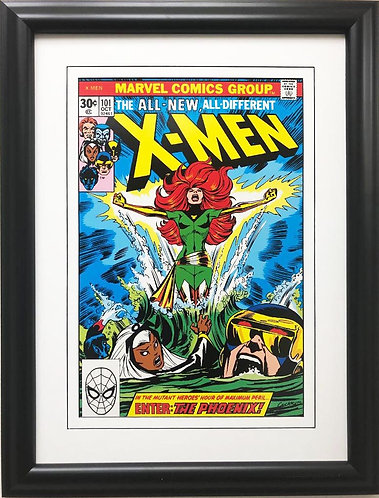 "Marvel ""X-Men"" Enter the Phoenix! # 101 Framed & Matted Comic Book Poster Art"