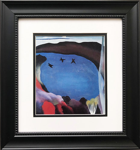 "Georgia O'Keeffe ""Lake George With Crows"" American Art Print Custom Framed New"