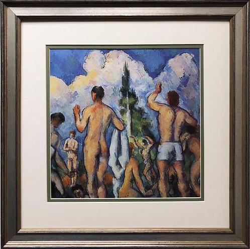 "Paul Cezanne ""Bathers"" 1890 Custom Framed Art Print"