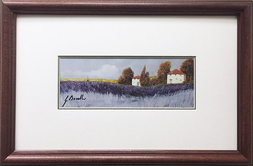 """Guido Borelli """"Tuscan Lavender"""" Newly CUSTOM FRAMED Hand Signed Lithograph ITALY"""