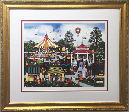 """Jane Wooster Scott """"Candied Apples and Candy Corn"""" FRAMED Lithograph Hand Signed"""