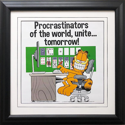 "Jim Davis""Procrastinators of the World,Unite...Tomorrow"" FRAMED Art"