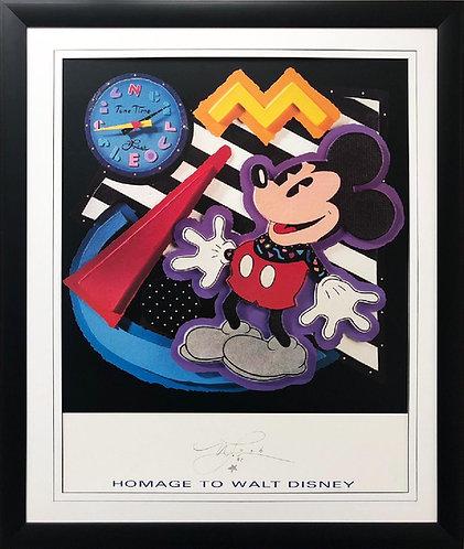 """Neil Loeb """"Homage to Walt Disney"""" New FRAMED Pop Art"""
