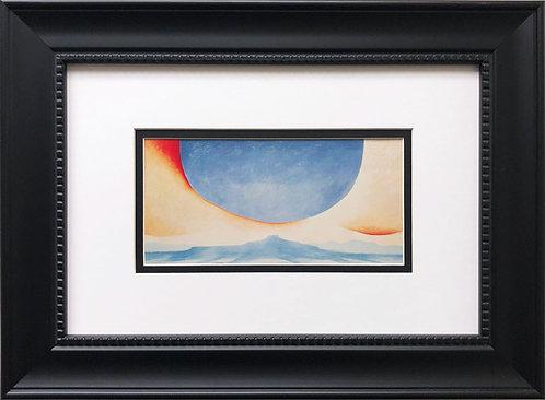 """Georgia O'Keeffe """"Pedernal"""" American Art Print Custom Framed"""