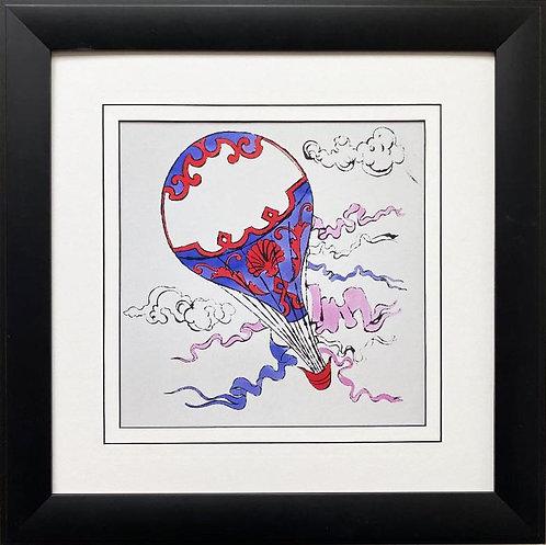 "Andy Warhol ""Hot Air Balloon"" 1958 CUSTOM FRAMED Pop Art Lithograph"