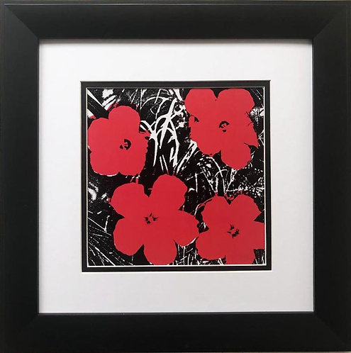 "Andy Warhol ""Flowers"" (Red) 1964 CUSTOM FRAMED Pop Art Lithograph"
